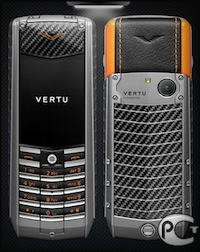 Vertu Ascent X Carbon Orange