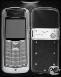 Vertu Constellation Exotic Black Ostrich