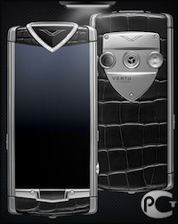 Vertu Constellation T Black Alligator Diamonds