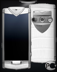 Vertu Constellation T White Alligator Diamonds