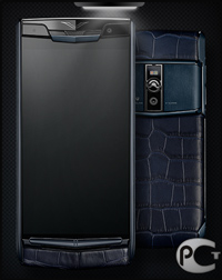 Vertu New Signature Touch Pure Navy Alligator
