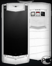 Vertu Ti New White Alligator