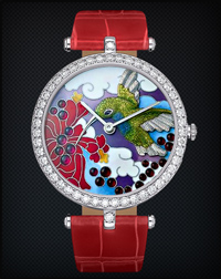 Van Cleef & Arpels Blue-Throated Colibri Extraordinary Dial